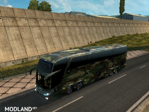 Bus Marcopolo G7 1600LD Camouflage Skin