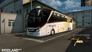ets2 mods Mercedes Setra 517 HDH 2018 bus + Skin logo 2018 1.31.x