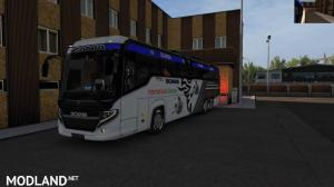 Scania black and White Skin official Review ets2 1.34 or Higher, 1 photo