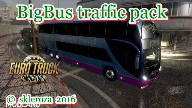 Big Bus traffic pack v1 4 9 mod for ETS 2