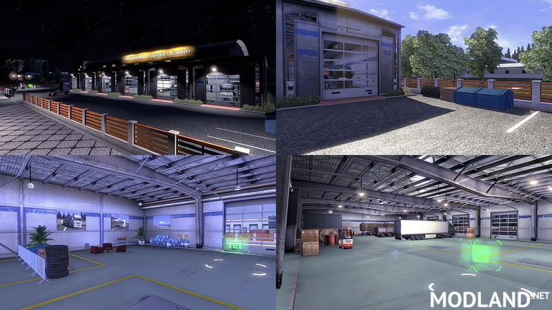 Custom Large Garage Type B Mod For Ets 2