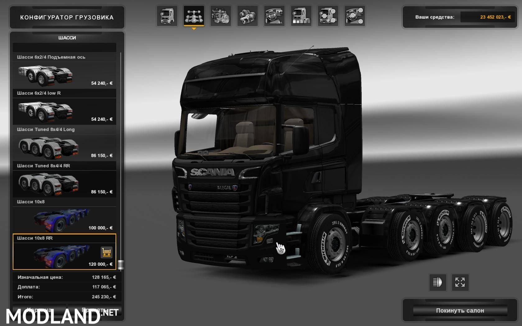 V8 illegal reworked truck v5 0 simulator games mods download - Scania Illegal V8 Reworked V3 0 1 24