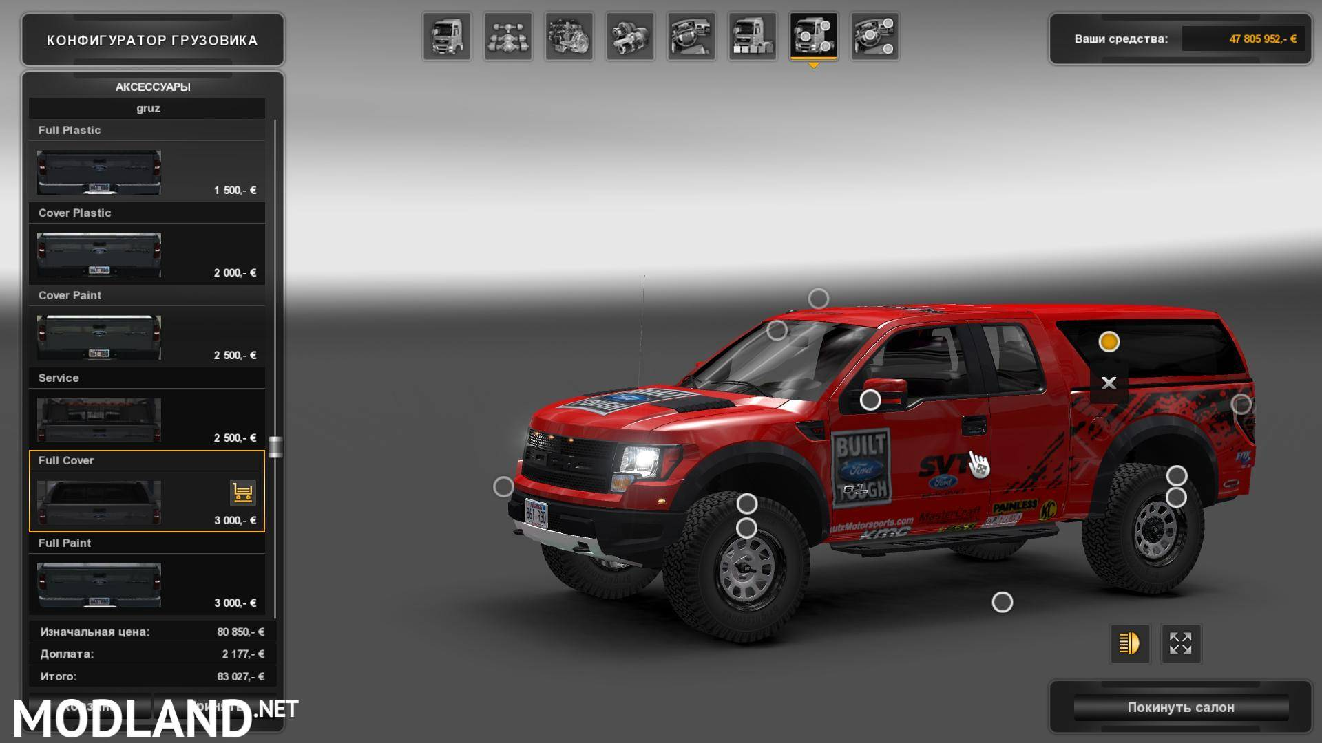FORD F150 SVT Raptor v2.0 for 1.24 mod for ETS 2