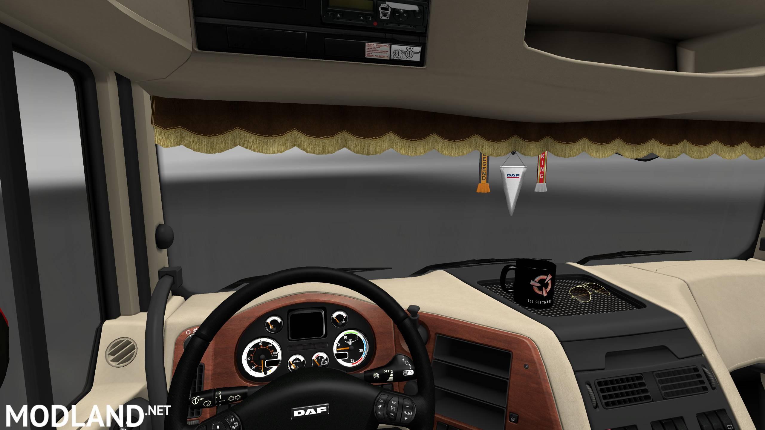 DAF XF 105 Interior/Exterior Rework mod for ETS 2