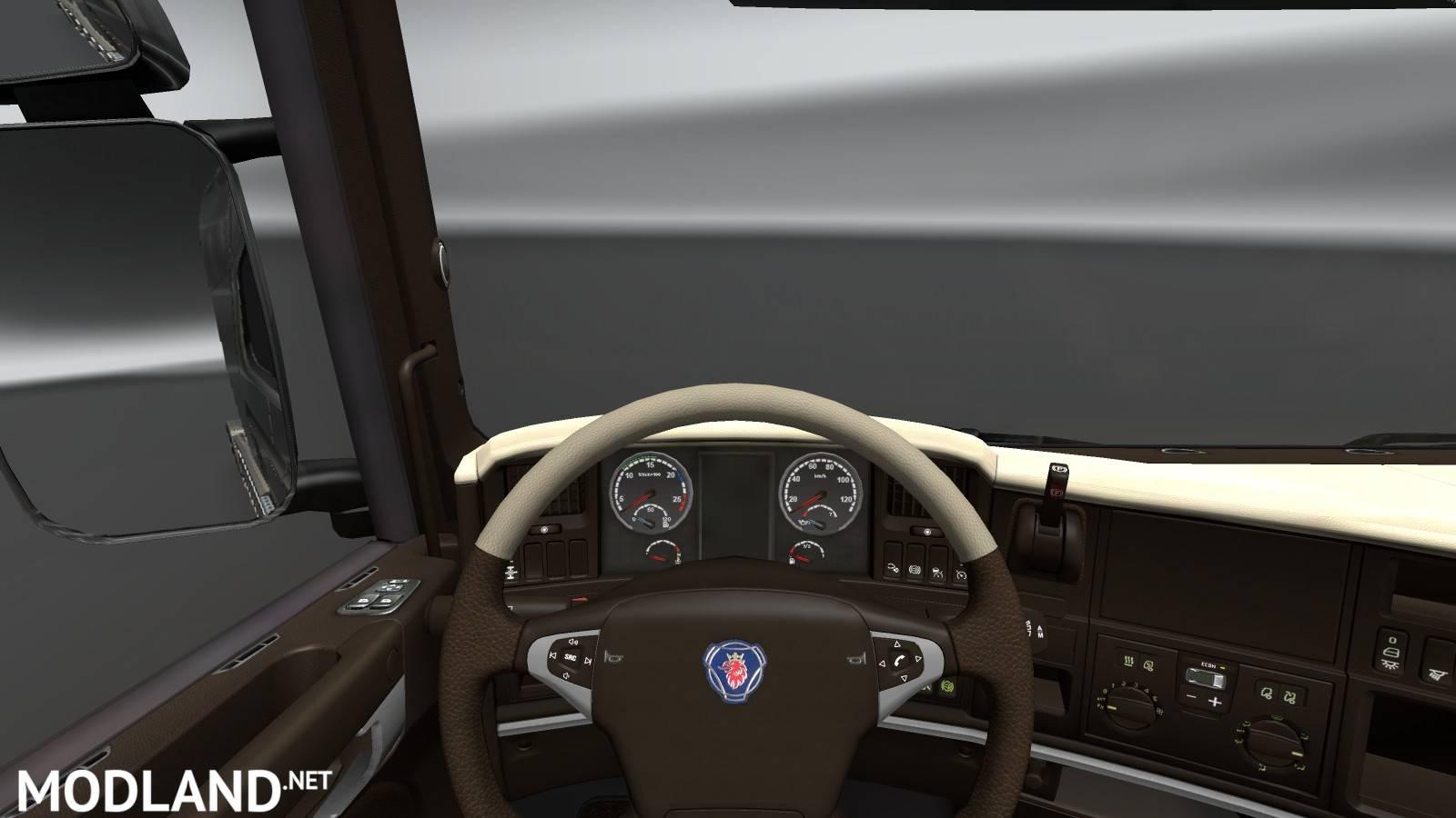 "Volvo Truck Dealer >> Scania Streamline "" Brown - Cream "" Interior mod for ETS 2"