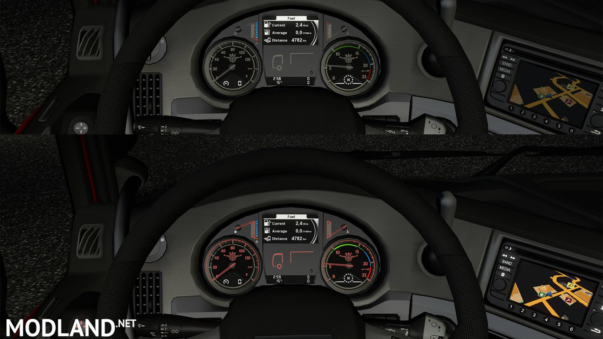 Dashboard-Gauges with Logo for DAF XF Euro 6 mod for ETS 2