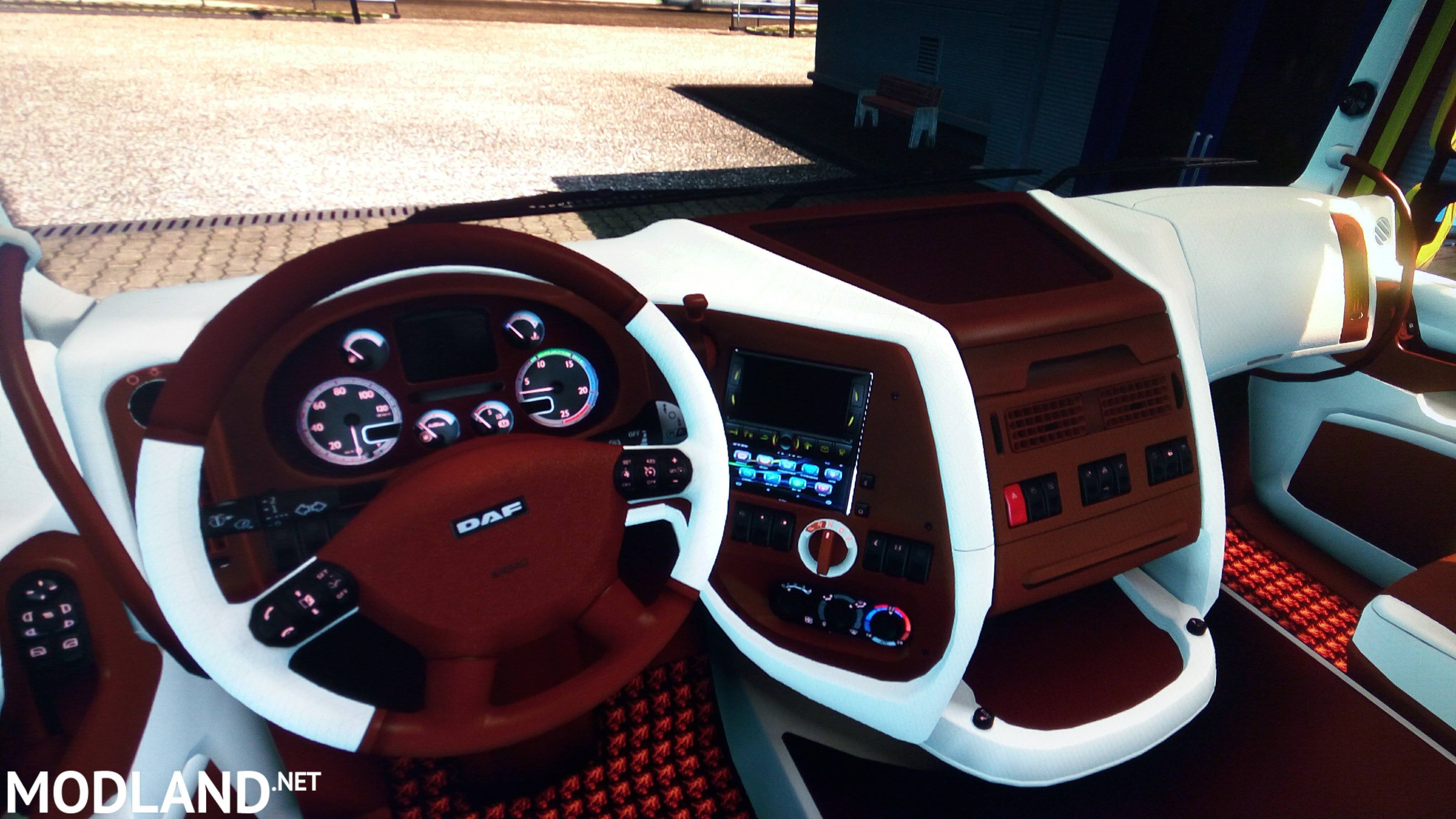 DAF XF 105 Super Space Brown/White interior-1.30 mod for ETS 2