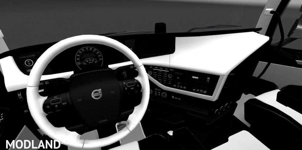 Volvo FH 2012 Black White Interior mod for ETS 2