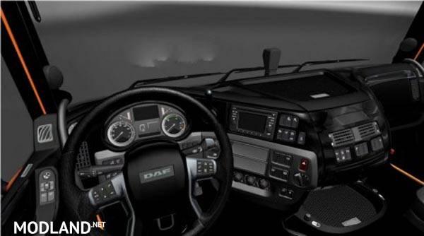 Daf xf euro 6 black interior transmission interior for Daf euro 6 interieur