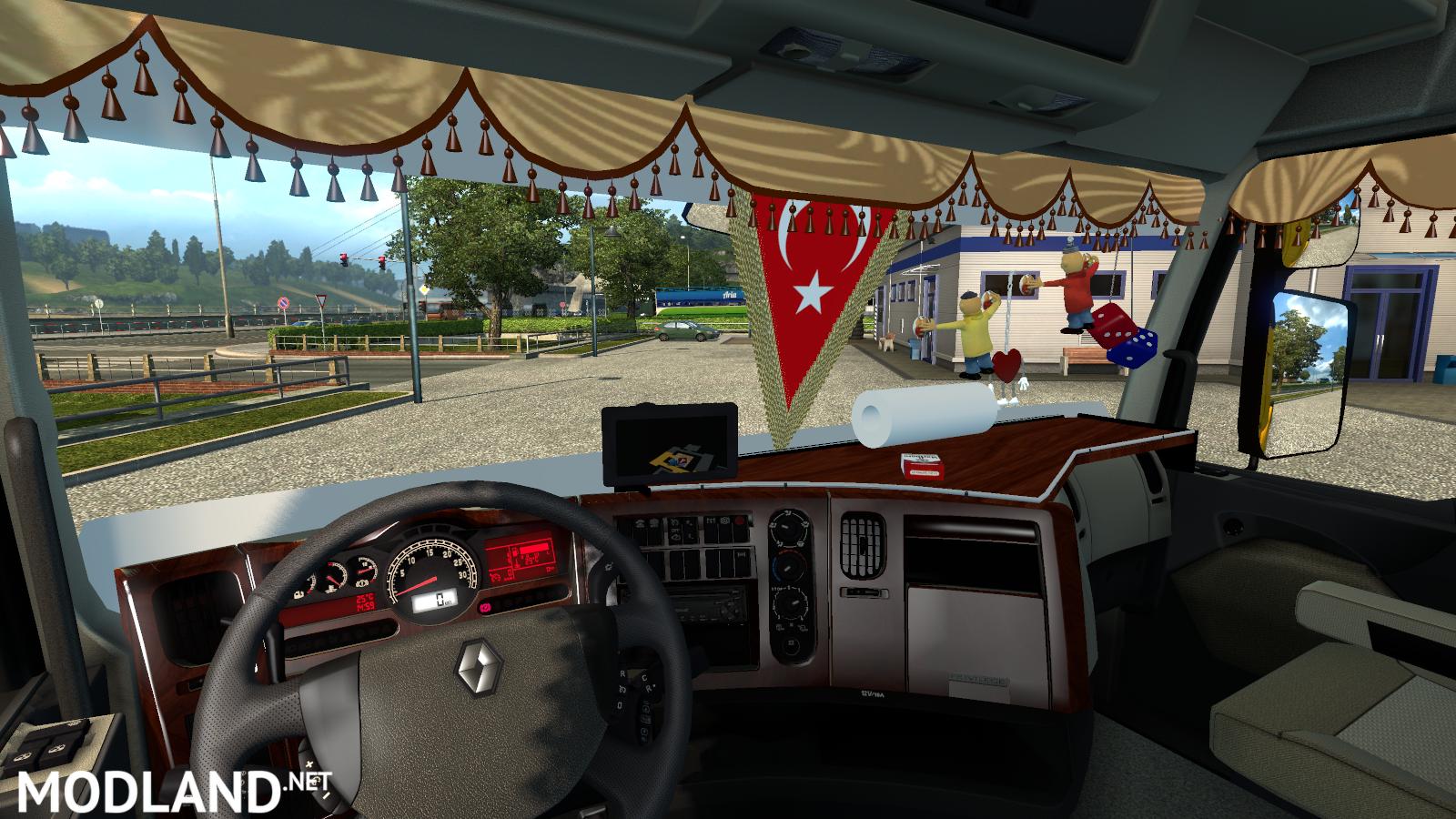 Cargo Trailer Accessories >> Renault Premium Turkish Interior mod for ETS 2
