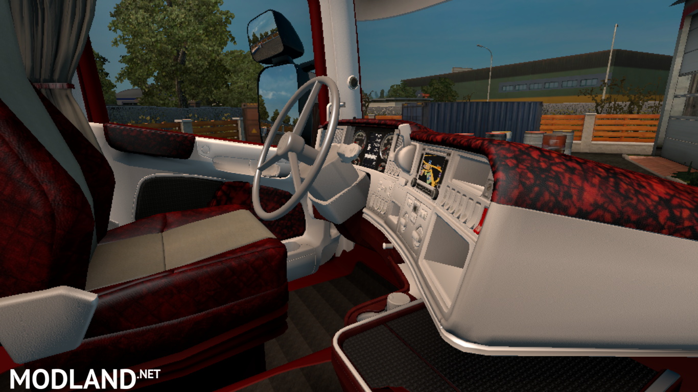 red interior for scania rjl mod for ets 2