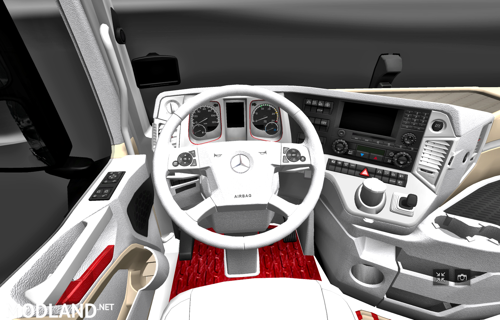 Mercedes Actros Mp4 2014 White Biege Red Interior Mod For Ets 2