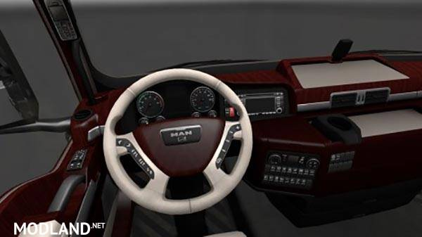 Man tgx wood interior mod for ets 2 for Interior design simulator