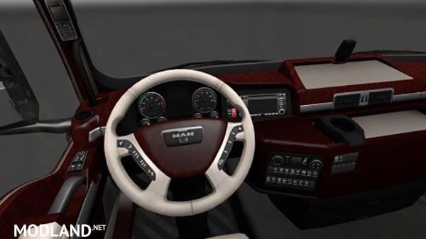 Man tgx wood interior mod for ets 2 for Interior design simulator
