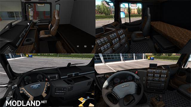 Iveco Stralis & MAN TGX Interiors