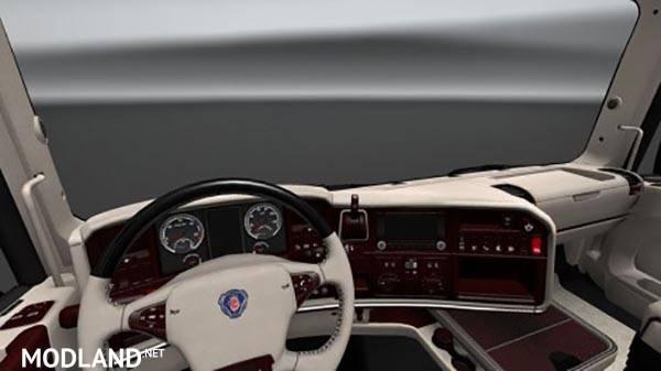 Scania Rjl T Streamline V8 White Lux Interior Mod For Ets 2