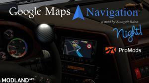 Google Maps Navigation Night Version for ProMods v2.3, 1 photo