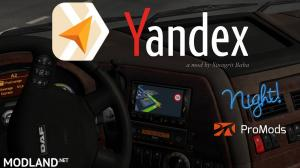 Yandex Navigator Night Version for ProMods v1.4, 1 photo