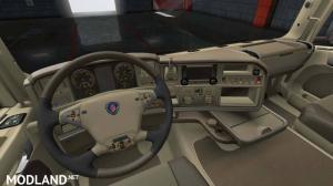 Scania R Lux Beige Leather Interior, 3 photo