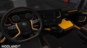 Black Yellow Scania S & R Interior, 2 photo