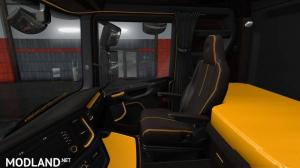 Black Yellow Scania S & R Interior - External Download image
