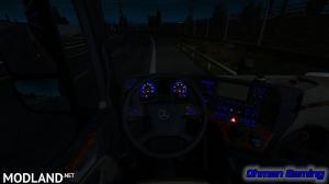 Mercedes-Benz MP4 Blue Dashboard Lights, 1 photo