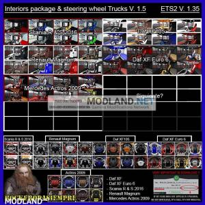 Interior package & steering wheel Trucks V.1.5 For 1.35.XX, 2 photo