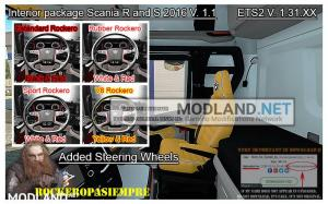 Interior package Scania R and S 2016 v 1.1 ETS2 1.31.x