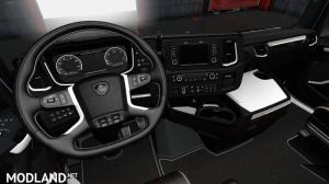 Scania S R White Black Interior