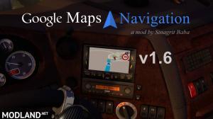 ETS 2 - Google Maps Navigation v 1.6