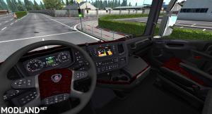 Scania next gen danish red plush interior
