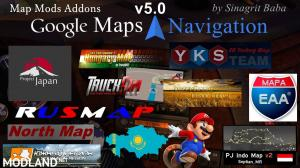 ETS 2 - Google Maps Navigation Normal & Night Map Mods Addons v5.0, 1 photo
