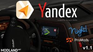 ETS 2 - Yandex Navigator Night Version for ProMods v 1.1