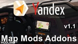 ETS 2 - Yandex Navigator Normal & Night Map Mods Addons v1.1, 1 photo