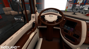 DAF XF 105 BEIGE-BROWN INTERIORS