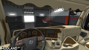 Mercedes Actros Low Cab Interior, 2 photo