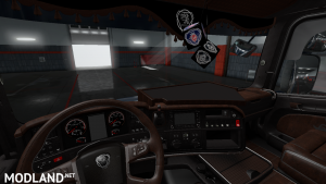 Mod Black and Brown Interior for Scania T by RJL v2.2 (v1.31-1.33)
