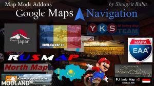 ETS 2 - Google Maps Navigation Normal & Night Version Map Mods Addons