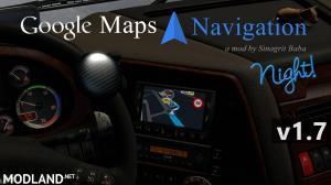 ETS 2 - Google Maps Navigation Night Version v 1.7 - External Download image