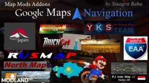 Google Maps Navigation Normal & Night Map Mods Addons v6.0, 1 photo