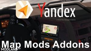 Yandex Navigator Normal & Night Version Map Mods Addons v2.0
