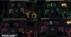 Mercedes Actros MP4 Colored Dashboard V2, 1 photo