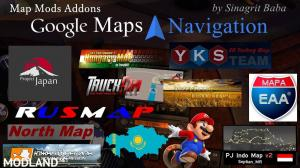 Google Maps Navigation Normal & Night Version Map Mods Addons v 6.1, 1 photo