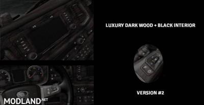 Luxury Wood + Black Interior for Scania S & R 2016, 2 photo