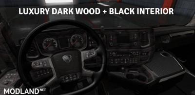 Luxury Wood + Black Interior for Scania S & R 2016, 1 photo
