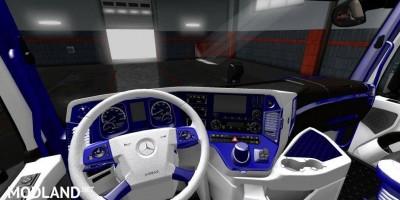 Mercedes Actros 2014 Blue White Interior, 1 photo