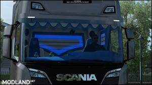 Interior Scania S Blue and White ETS 2, 2 photo