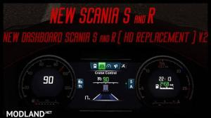 Reworked dashboard to Scania S and R (Replacement) v2.0, 1 photo