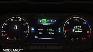 Reworked dashboard to Scania S and R (Replacement) v2.0, 2 photo