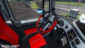 White black carbon detailed DAF XF euro6 interior, 2 photo